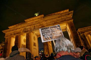 Berlin  Deutschland  Anti-Pegida-Demo Berlin