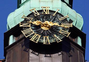 Uhr an der Bremer Zentralbibliothek