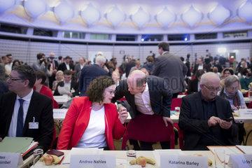 Andrea Nahles  Olaf Scholz - SPD Europa Konvent