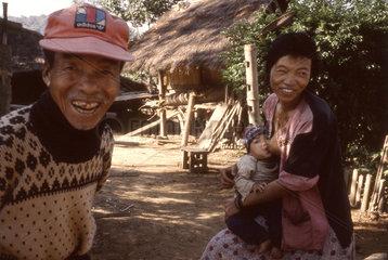 Bewohner im Bergdorf von Thailand