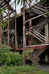 Essen  Deutschland  Treppenkonstruktion auf der Zeche Zollverein