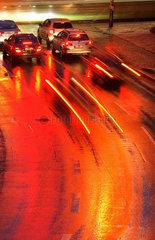 Strasse im Regen
