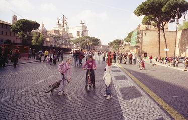verkehrsfreier Sonntag Rom