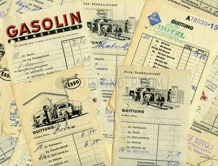 Tankrechnungen  1951