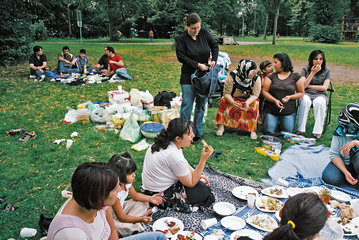 Grillen im Park