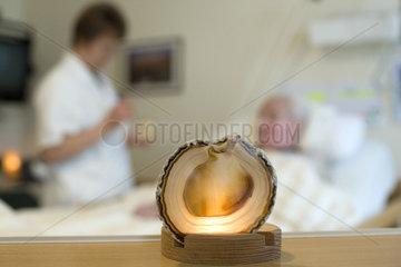 Kerze im Hospiz