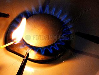 Gasflamme anzuenden
