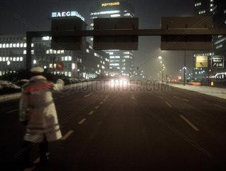 Smogalarm am 18.1.1985 in Essen