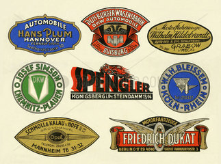 Autohaendler  Firmenwerbung  1929