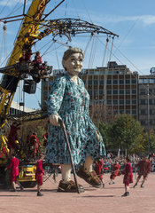 SWITZERLAND-GENEVA-GIANT-PUPPET