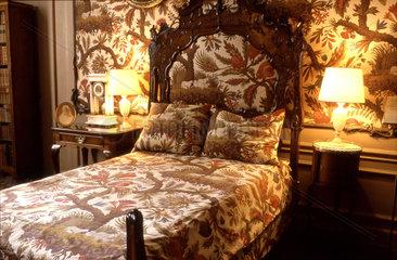 Gemustertes Schlafzimmer