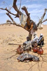 Fluechtlinge aus Darfur im Lager Gaga im Osten vom Tschad