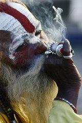 Sadhu (heiliger Mann) in Nepal