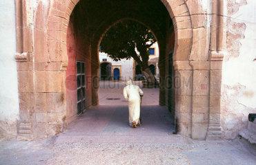Essaouira Mann im Tor