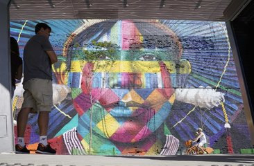(SP)BRAZIL-RIO DE JANEIRO-OLYMPICS-GRAFFITI PAINTING