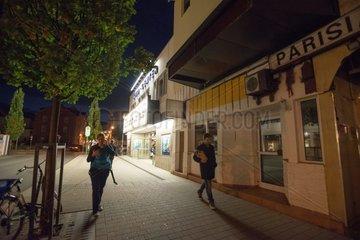 Licht  Schatten  Graffiti an der Wand
