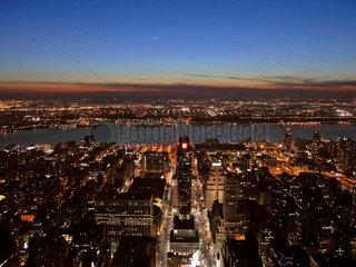 Manhattan New York City  Blick nach Westen