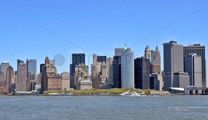 Skyline Battery Park Finanzdistrikt Manhattan New York City