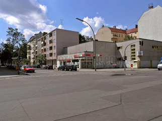 Drehort fuer den Supermarktueberfall in Lola rennt  Charlottenburg  Berlin