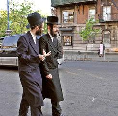 Orthodoxe Juden im Stadtteil Williamsburg  Brooklyn  New York City