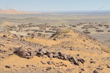 Geisterstadt  Erg Chebbi  Marokko  Afrika
