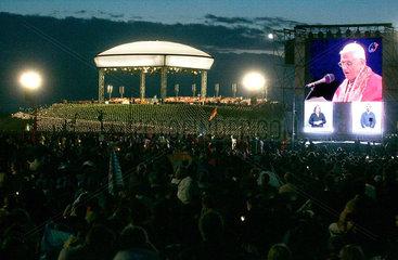 Weltjugendtag Koeln 2005 Marienfeld Vigilfeier