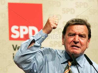 Bundeskanzler Gerhard Schroeder Bundestagswahlkampf 2005