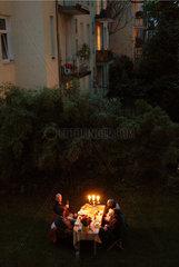 Abendessen im Hof