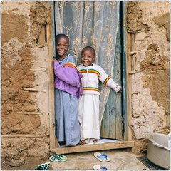 Kinder Portraets im Kibera Slum