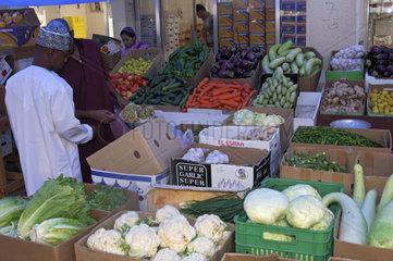 Gemuesemarkt in der Stadt Sur  Sultanat Oman
