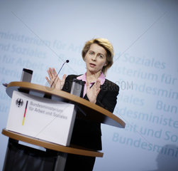 German Labour and Social Affairs Minister Ursula von der Leyen