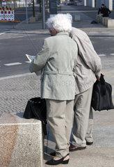 Elderly couple in Berlin