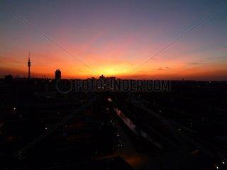 Muenchen Sonnenuntergang