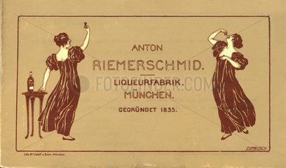 Likoerfabrik Anton Riemerschmid  Muenchen  1898