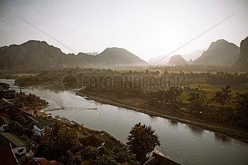 Landschaft in Vang Vieng