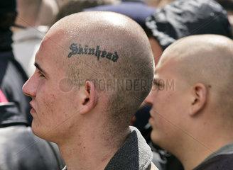 NPD NeoNazi Demo 60 Jahrestag Kriegsende Tag der Befreiung Skinhead