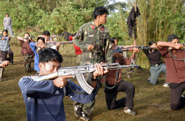 Nepal Maoist Rebels - Training Camp