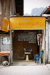 Friseurgeschaeft in Vang Vieng
