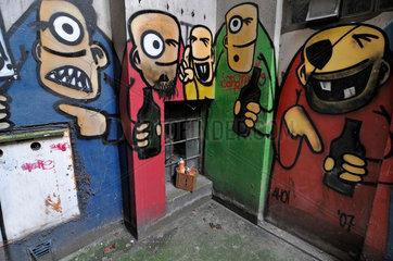 Bier. Graffiti im Gaengeviertel  Hamburg