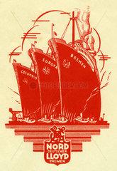 Norddeutscher Lloyd Bremen  Logo  1936