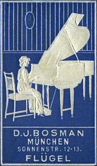 Werbung fuer Klaviergeschaeft  1910