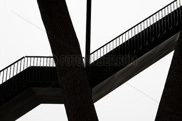 Silhouette einer Treppe