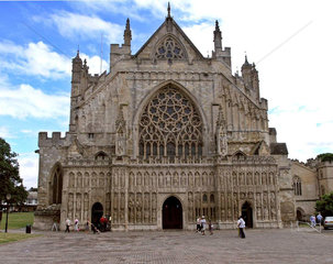 Kathedrale von Exeter  Devon  England
