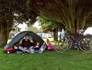 Radtour  Zeltplatz in Bodmin  Cornwall  England