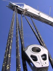 Pulley of a boat