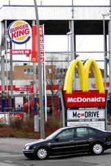 Burger King und McDonalds Filialen