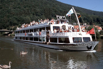 Heidelberg Ausflugsschiff auf dem Neckar