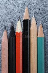 Bleistiftspitzen  verschiedene Farben