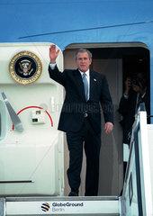 Ankunft des amerikanischen Praesidenten George W. Bush in Berlin