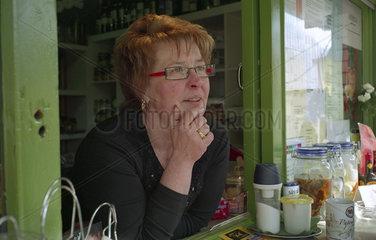 Trinkhallenwirtin im Ruhrgebiet